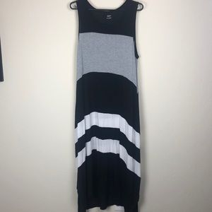 DKNY L oversized striped lounge/beach maxi dress